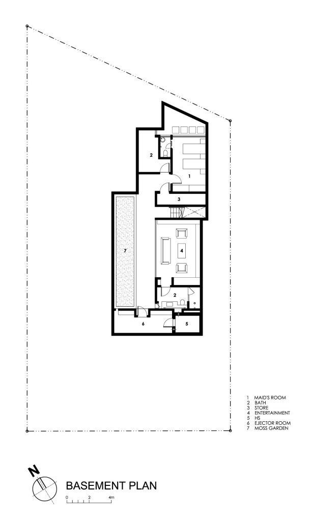 Basement Floor Plan - Travertine Dream House Luxury Residence - Serangoon, Singapore