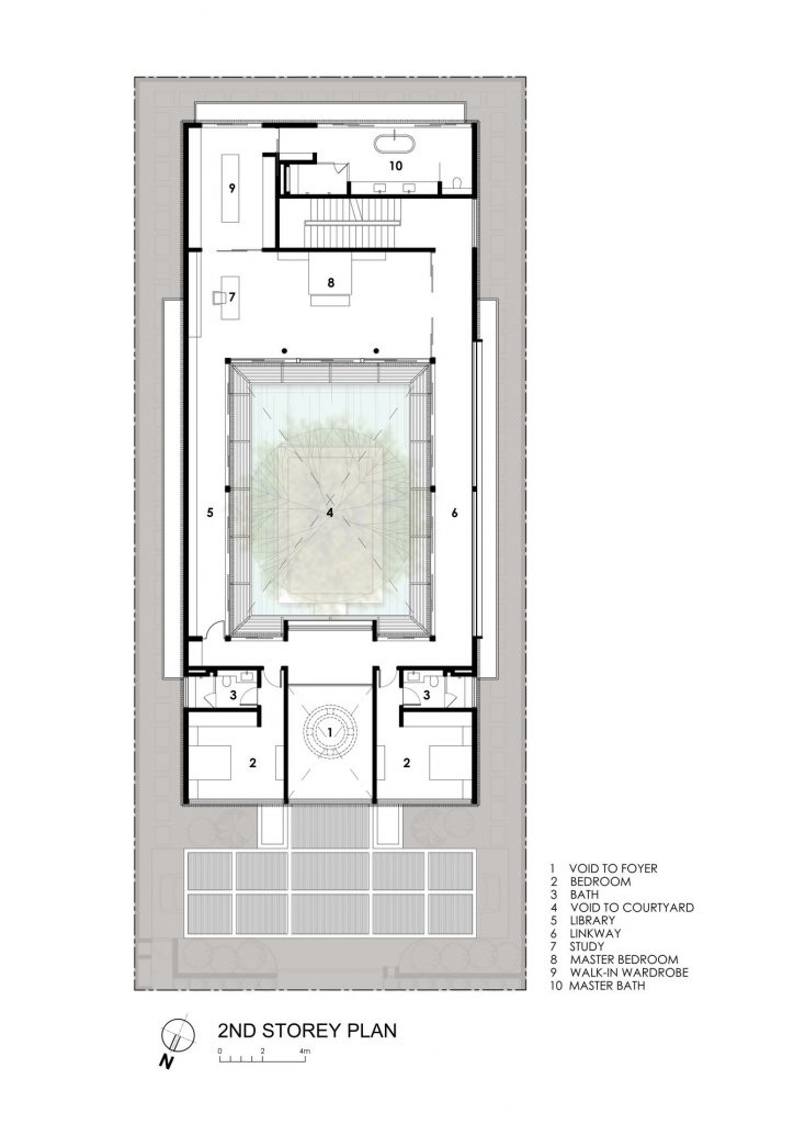 Second Floor Plan - Centennial Tree House Luxury Residence - Dunbar Walk, Singapore
