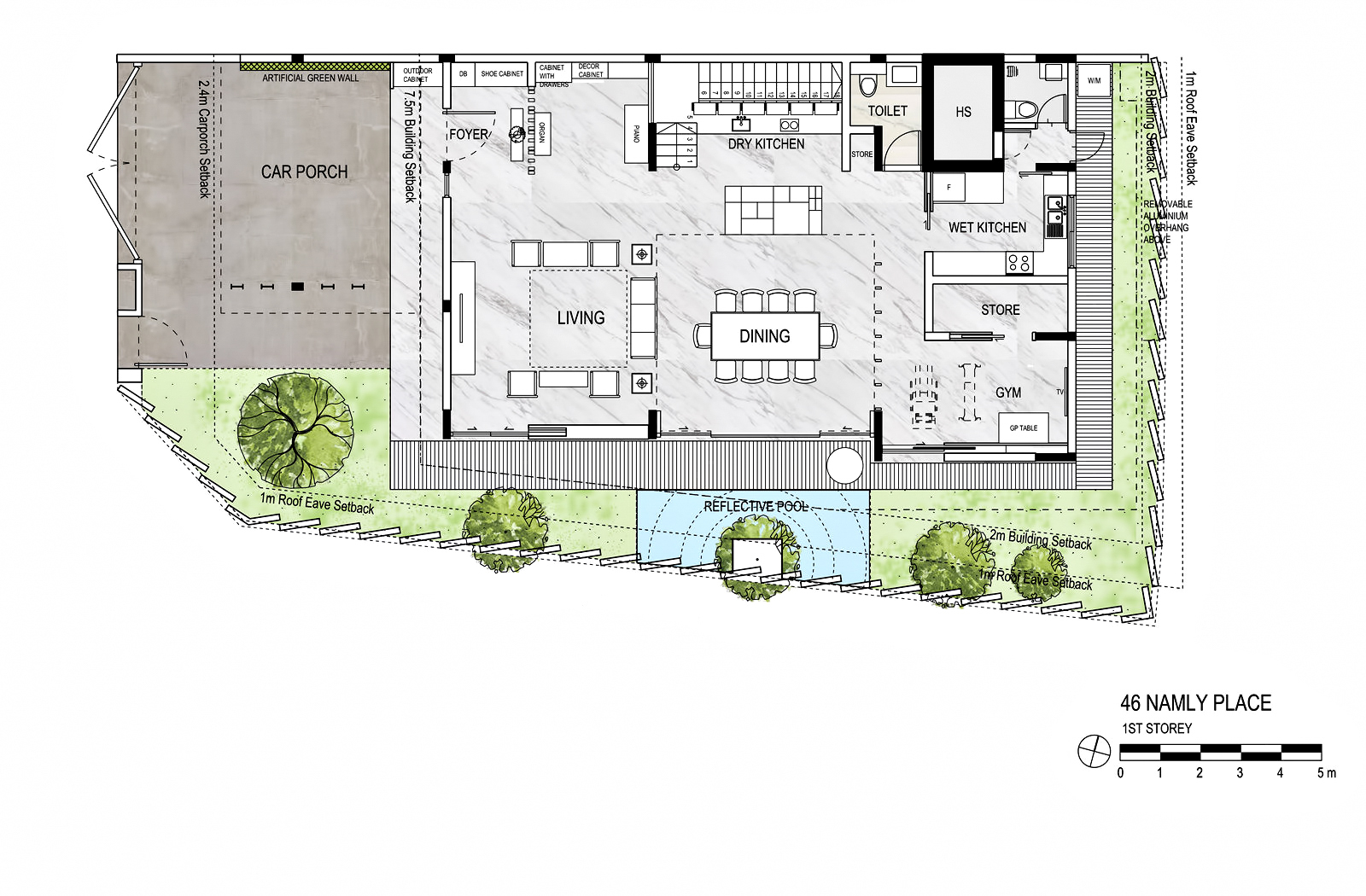 First Floor Plan - The Loft House Luxury Residence - Namly Place, Singapore