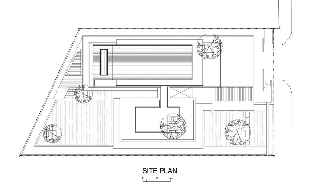 Site Plan - Travertine Dream House Luxury Residence - Serangoon, Singapore