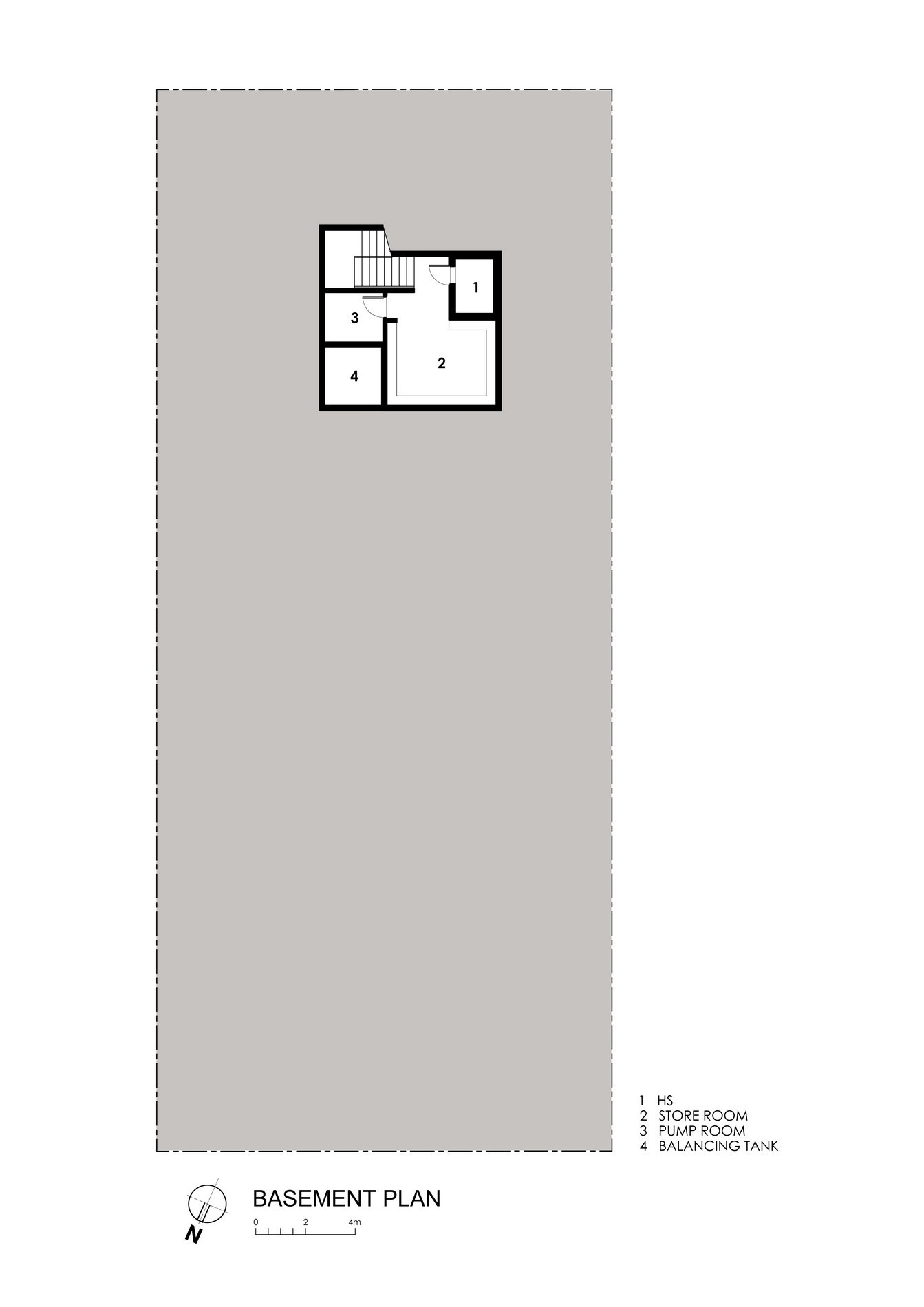 Basement Floor Plan - Centennial Tree House Luxury Residence - Dunbar Walk, Singapore