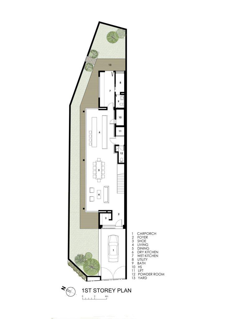 First Floor Plan - Sunny Side House Luxury Residence - Serangoon, Singapore