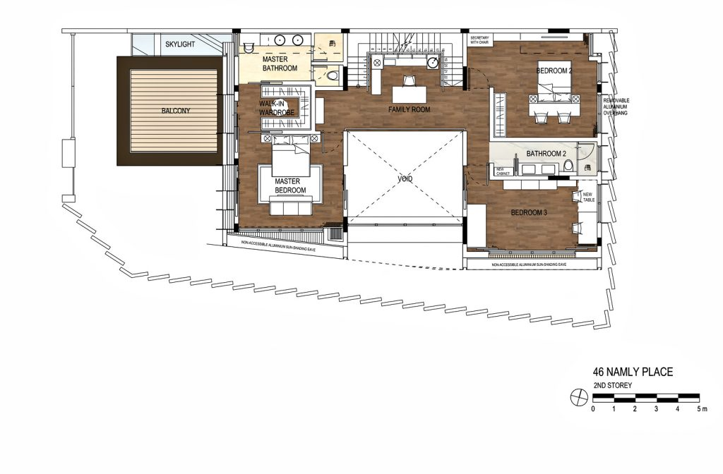 Second Floor Plan - The Loft House Luxury Residence - Namly Place, Singapore