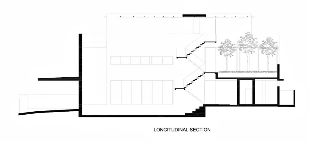 Section - Attic Second Floor Plan - The Space Between Walls House - Prices of Wales Rd, Singapore