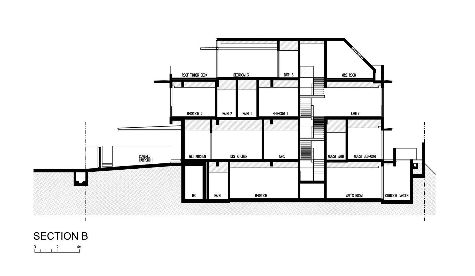 Section - Travertine Dream House Luxury Residence - Serangoon, Singapore