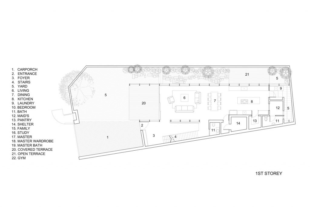First Floor Plan - Lines of Light Luxury Residence - Faber Terrace, Singapore