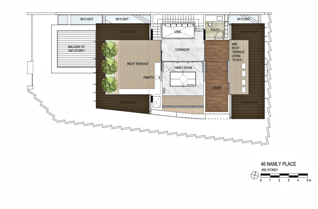 Third Floor Plan - The Loft House Luxury Residence - Namly Place, Singapore