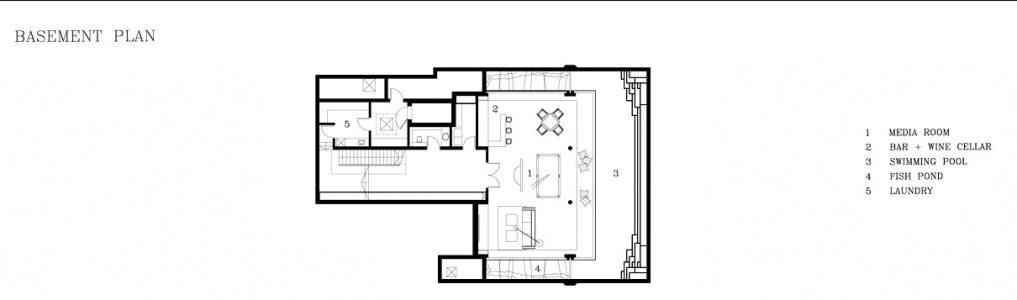 Basement Floor Plan - Meera Sky Garden House - Cove Grove, Sentosa Island, Singapore