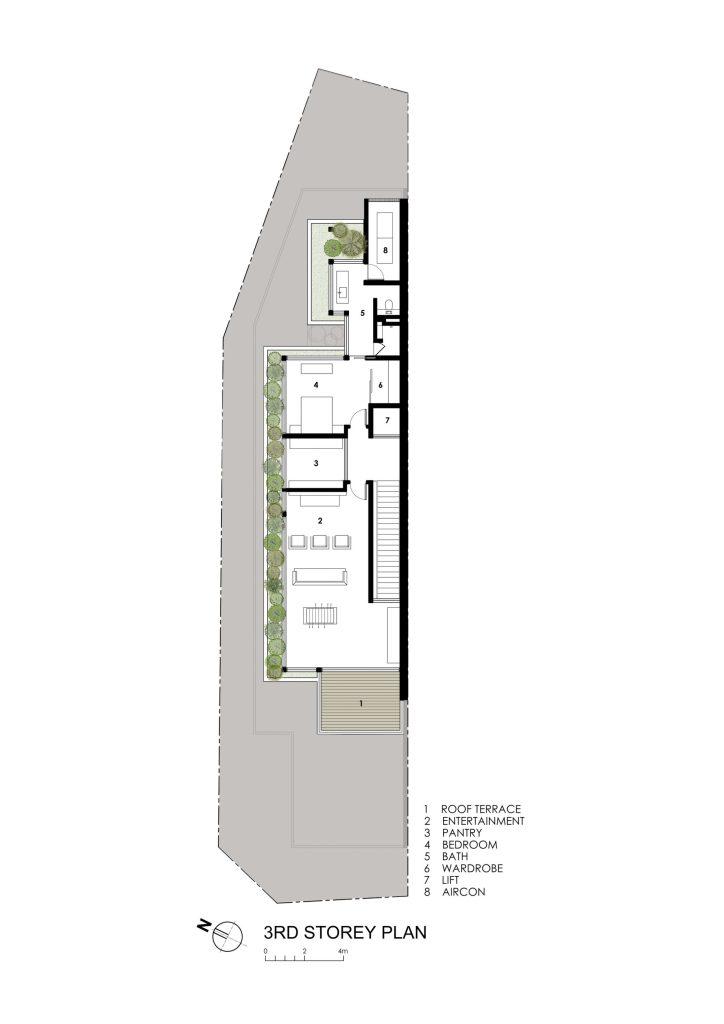 Third Floor Plan - Sunny Side House Luxury Residence - Serangoon, Singapore