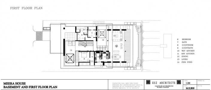 First Floor Plan - Meera Sky Garden House - Cove Grove, Sentosa Island, Singapore