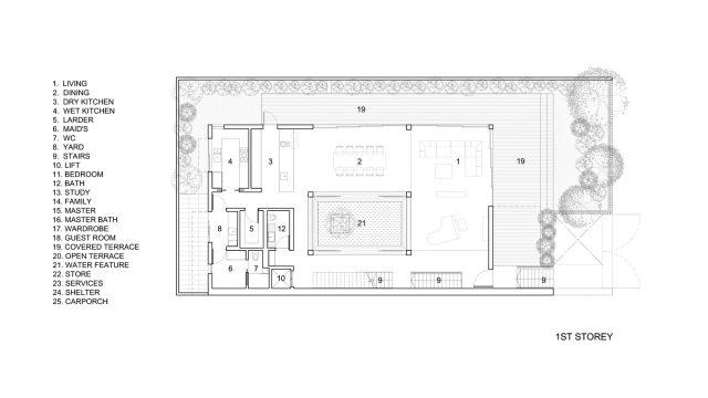 First Floor Plan - Vertical Court Luxury Residence - Greenbank Park, Singapore