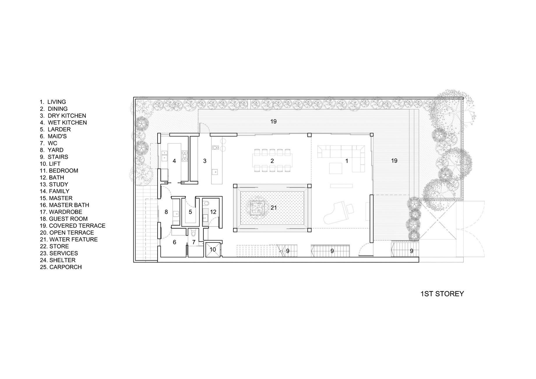 First Floor Plan – Vertical Court Luxury Residence – Greenbank Park, Singapore