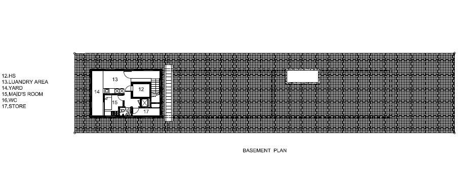 Basement Floor Plan - Bridge Over Water House - Jalan Angin Laut, Singapore