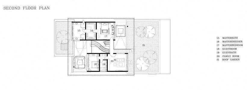 Second Floor Plan - Meera Sky Garden House - Cove Grove, Sentosa Island, Singapore