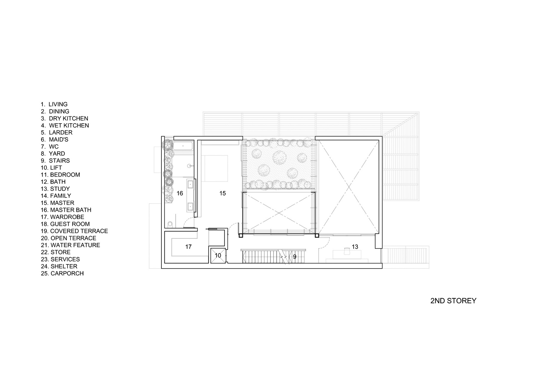 Second Floor Plan - Vertical Court Luxury Residence - Greenbank Park, Singapore