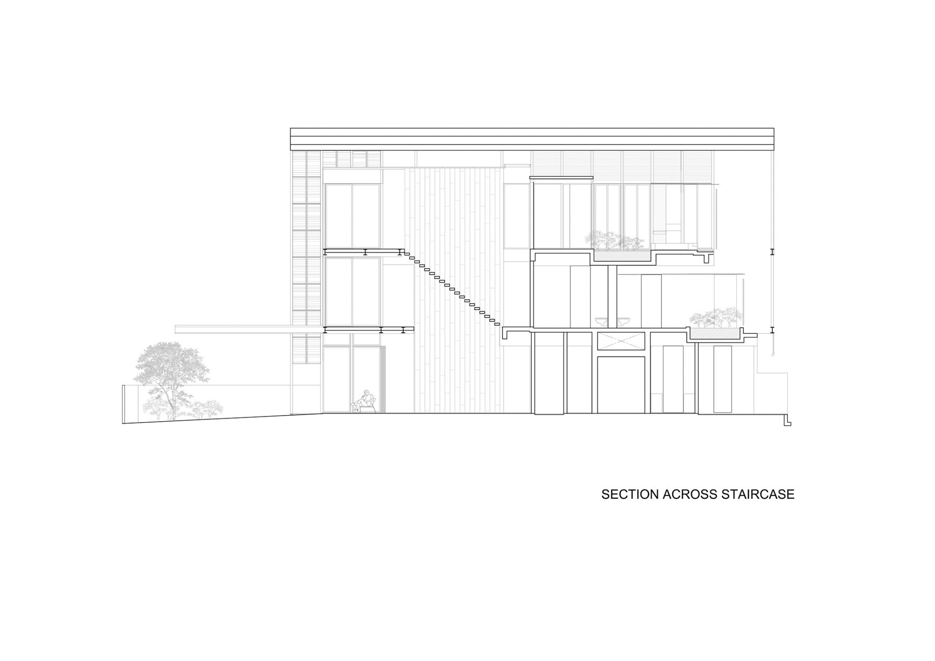Section - Attic Floor Plan - Lines of Light Luxury Residence - Faber Terrace, Singapore