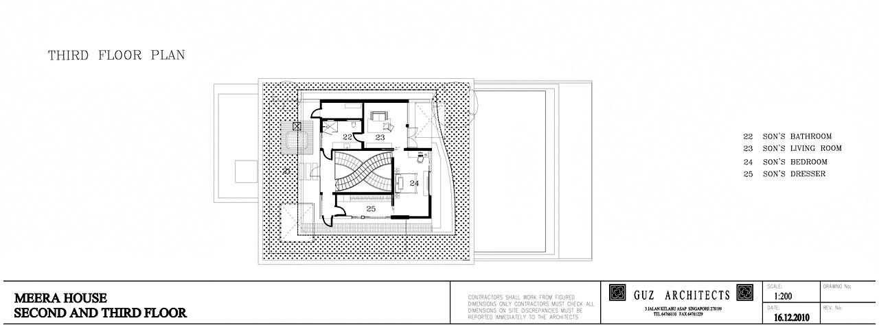 Third Floor Plan – Meera Sky Garden House – Cove Grove, Sentosa Island, Singapore