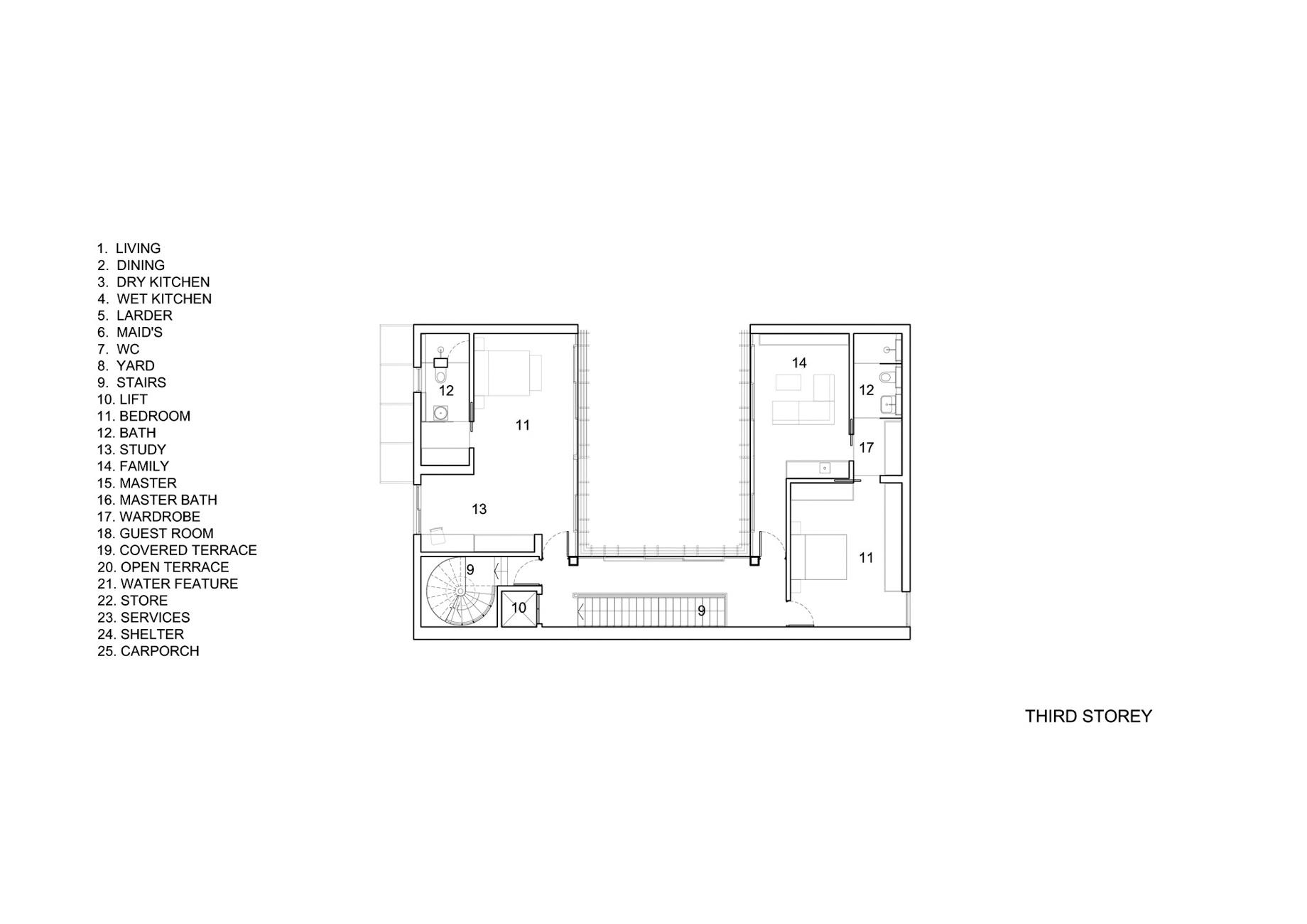 Third Floor Plan – Vertical Court Luxury Residence – Greenbank Park, Singapore