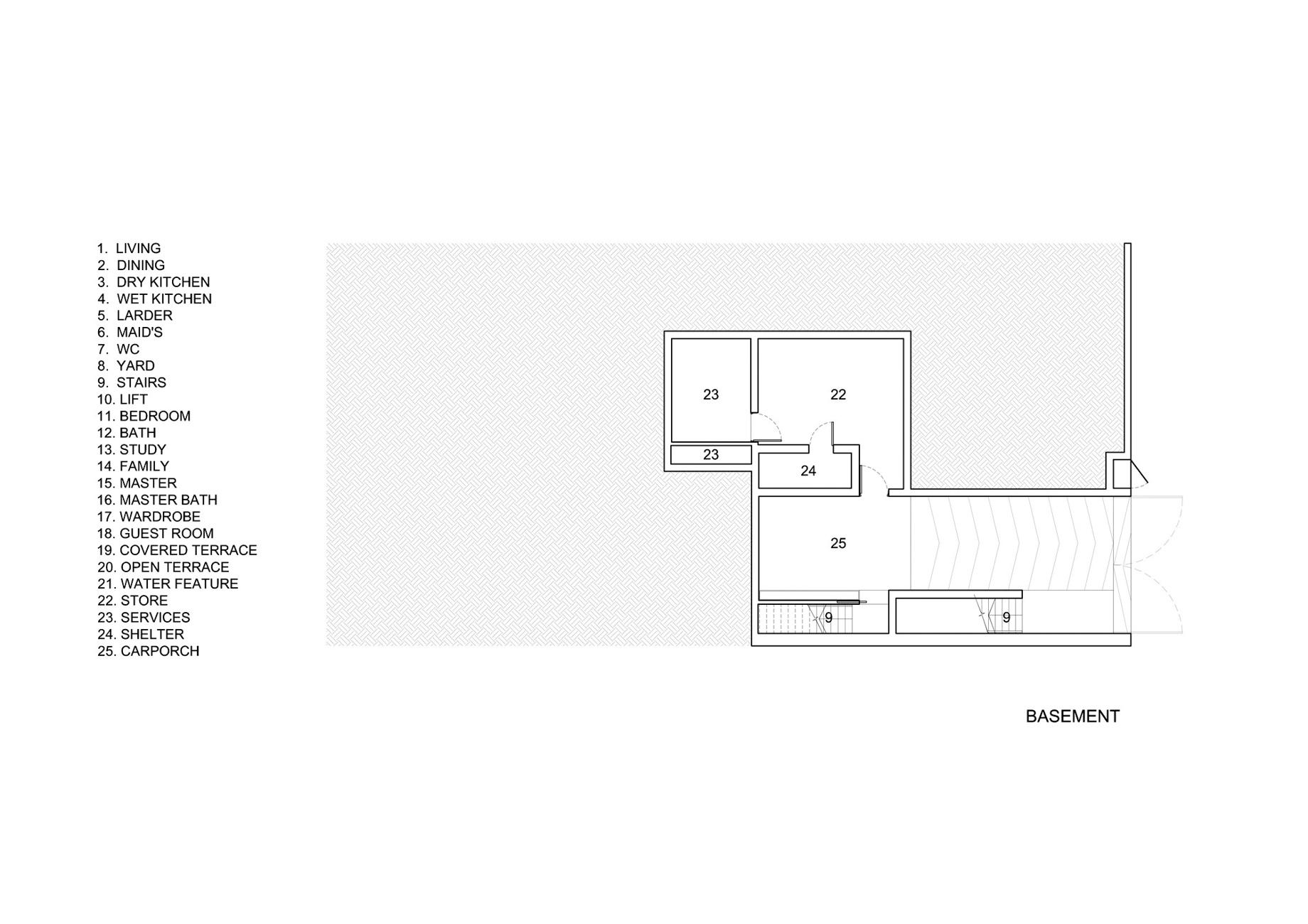 Basement Floor Plan – Vertical Court Luxury Residence – Greenbank Park, Singapore