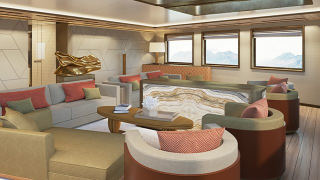 La Datcha - Tinkoff Collection's New Luxury Superyacht - Salon