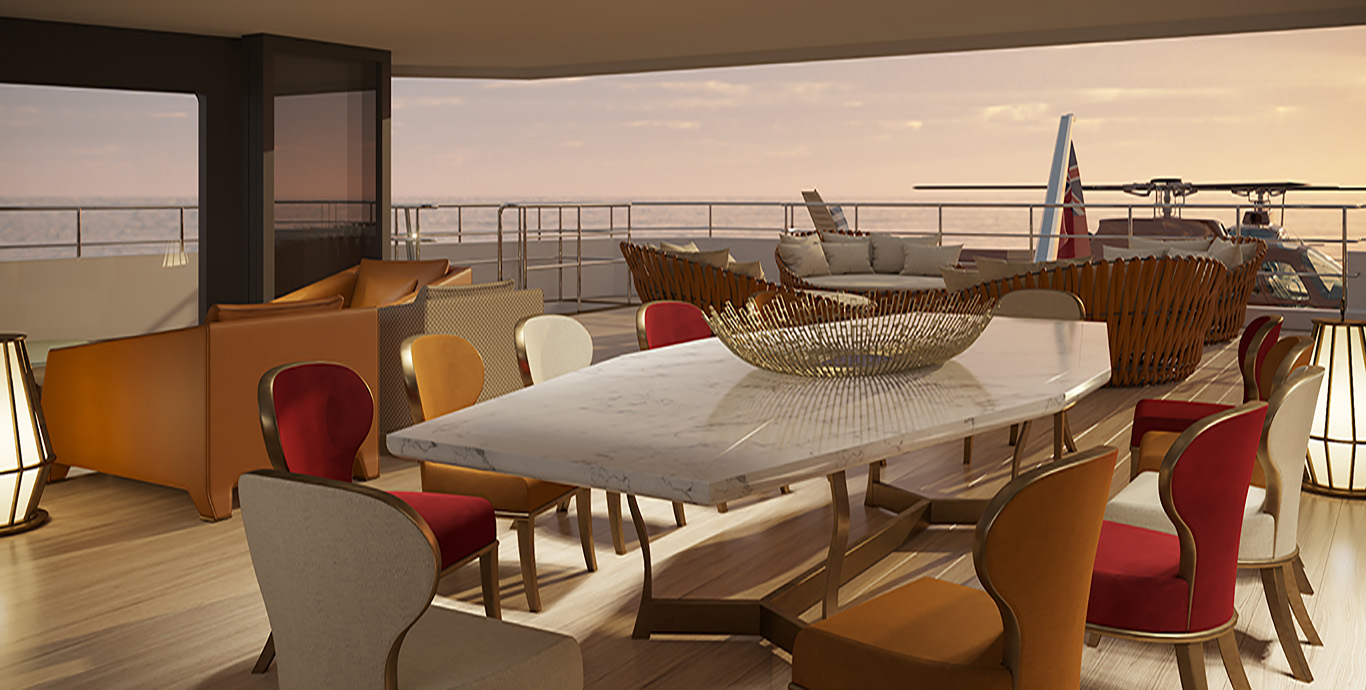 La Datcha – Tinkoff Collection's New Luxury Superyacht – Dining