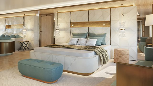 La Datcha - Tinkoff Collection's New Luxury Superyacht - Cabin
