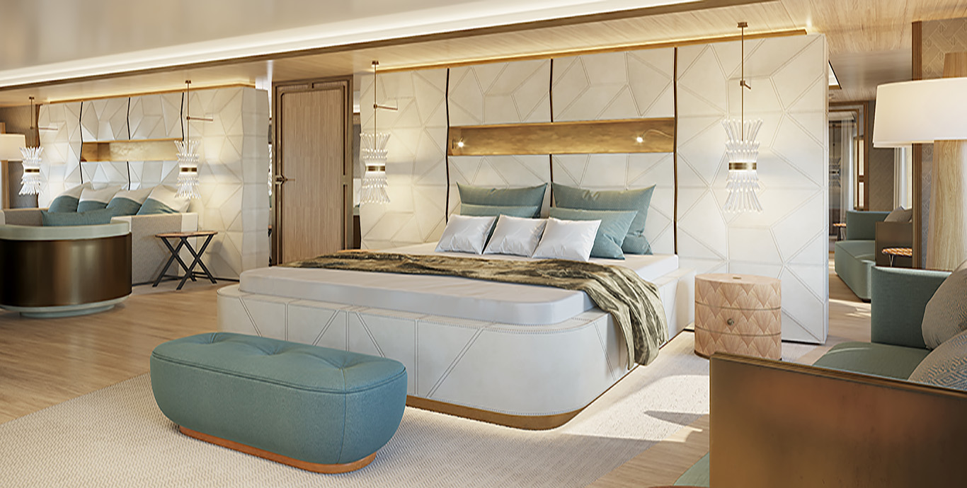 La Datcha – Tinkoff Collection's New Luxury Superyacht – Cabin