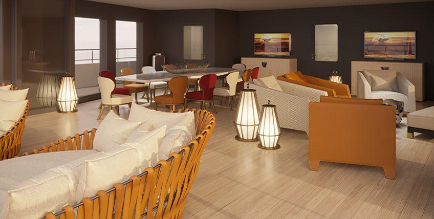 La Datcha - Tinkoff Collection's New Luxury Superyacht - Salon