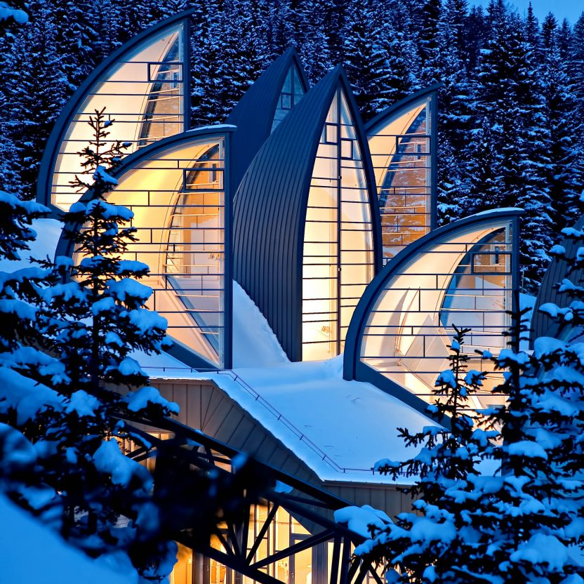 Tschuggen Grand Luxury Hotel - Arosa, Switzerland - Winter Neon Lights