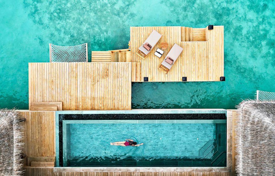 Joali Maldives Luxury Resort - Muravandhoo Island, Maldives - Water Villa Infinity Pool Overhead
