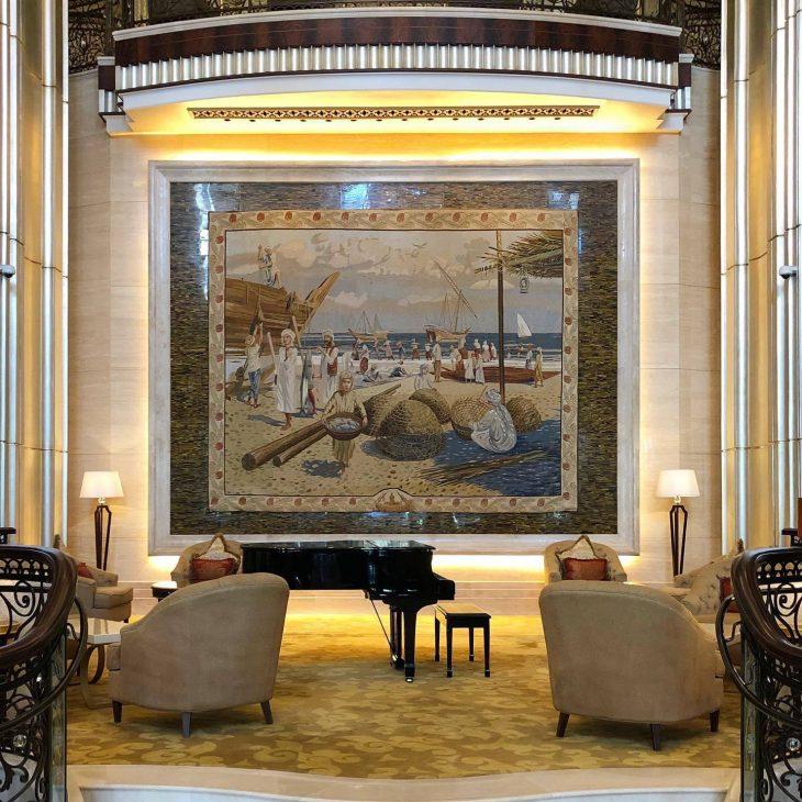 The St. Regis Abu Dhabi Luxury Hotel - Abu Dhabi, United Arab Emirates - Lobby Mural