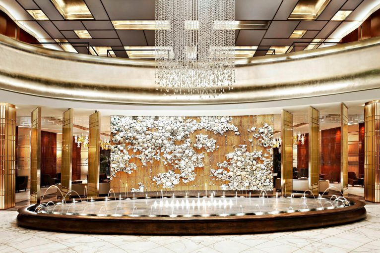 The St. Regis Tianjin Luxury Hotel - Tianjin, China - Lobby Fountain