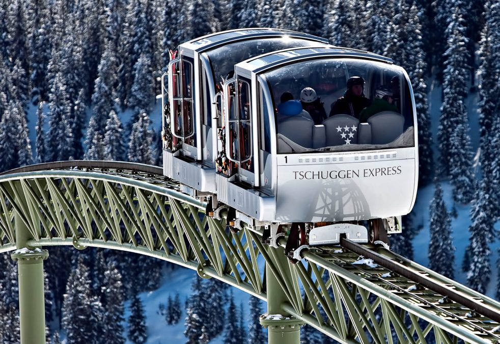 Tschuggen Grand Luxury Hotel - Arosa, Switzerland - Sky Tram Cars