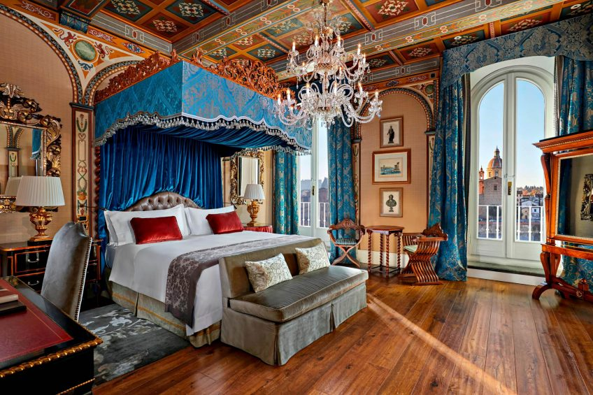 The St. Regis Florence Luxury Hotel - Florence, Italy - Royal Suite Gioconda Bedroom Renaissance style