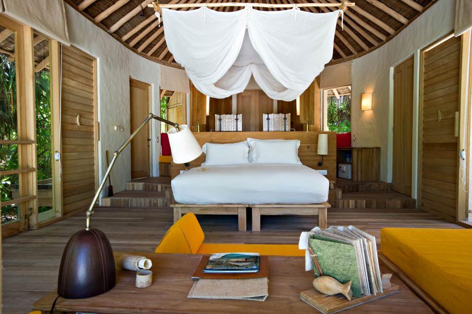 Six Senses Laamu Luxury Resort - Laamu Atoll, Maldives - Ocean Beachfront Villa Bedroom
