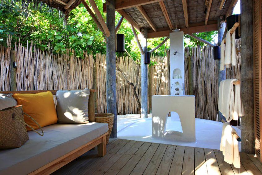 Six Senses Laamu Luxury Resort - Laamu Atoll, Maldives - Ocean Beachfront Villa Shower