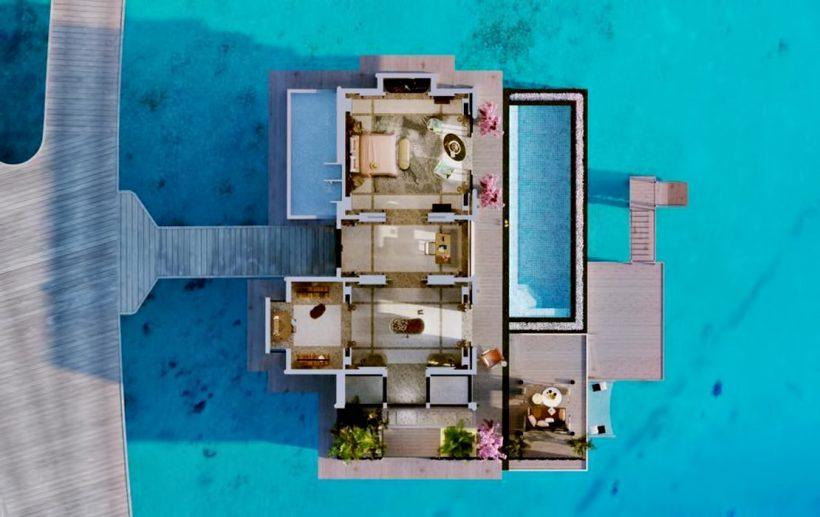 Joali Maldives Luxury Resort - Muravandhoo Island, Maldives - Water Villa Overhead Section