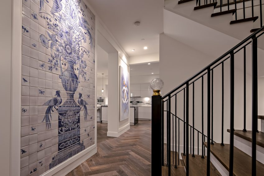 2121 Union Court, West Vancouver, BC, Canada - Hallway Art - Luxury Real Estate - West Coast Modern Home