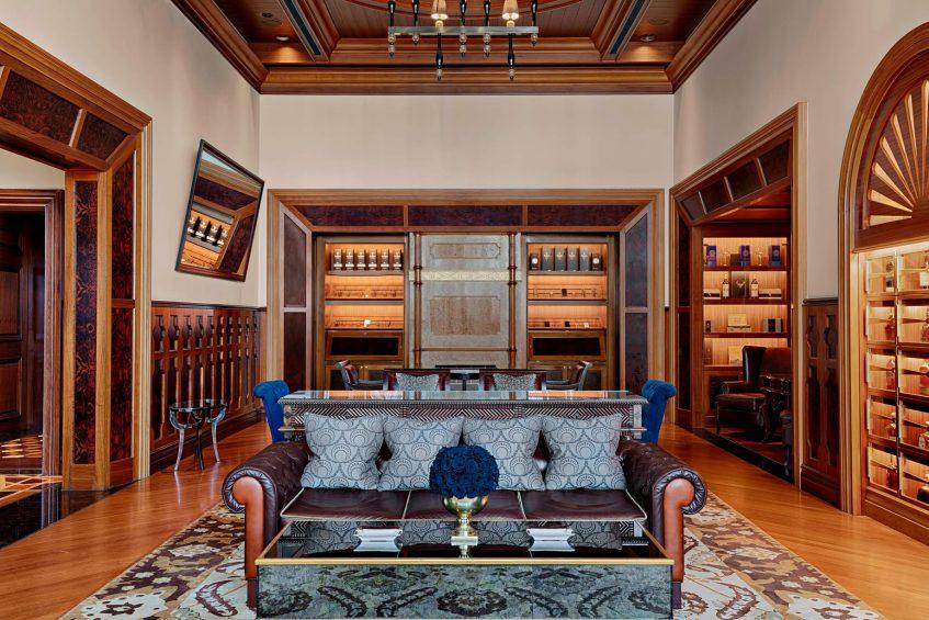 The St. Regis Abu Dhabi Luxury Hotel - Abu Dhabi, United Arab Emirates - St. Regis Bar Cigar Lounge