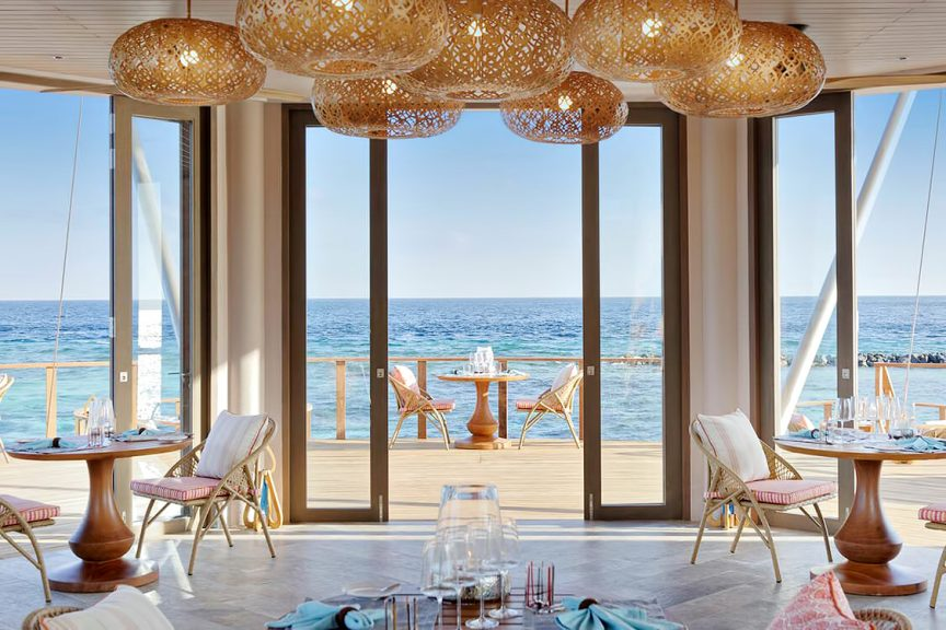 The Nautilus Maldives Luxury Resort - Thiladhoo Island, Maldives - Over Water Zeytoun Restaurant Deck