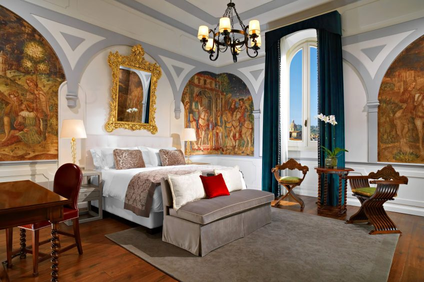 The St. Regis Florence Luxury Hotel - Florence, Italy - Premium Deluxe Arno River View Florentine style