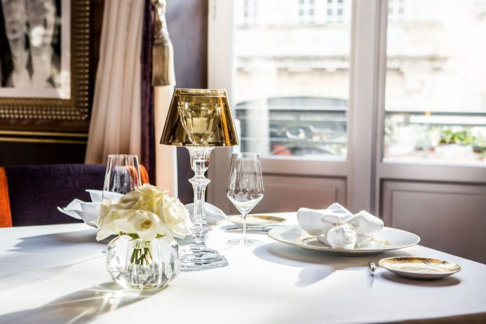 InterContinental Bordeaux Le Grand Hotel - Bordeaux, France - Restaurant Table Setting
