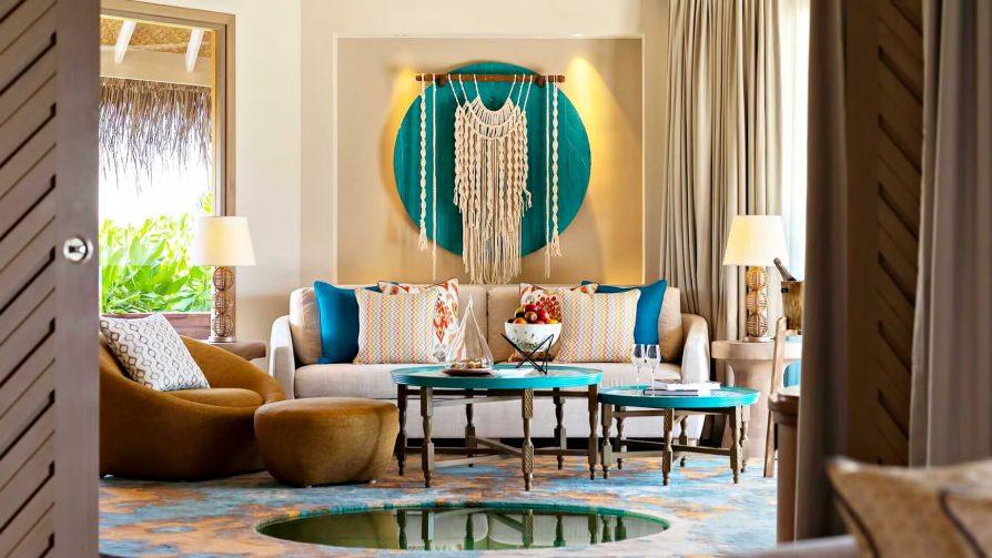 The Nautilus Maldives Luxury Resort - Thiladhoo Island, Maldives - Ocean Residence Living Room