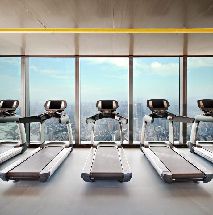 The St. Regis Shenzhen Luxury Hotel - Shenzhen, China - 75th Floor Fitness Center