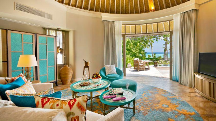 The Nautilus Maldives Luxury Resort - Thiladhoo Island, Maldives - Beach House Living Room