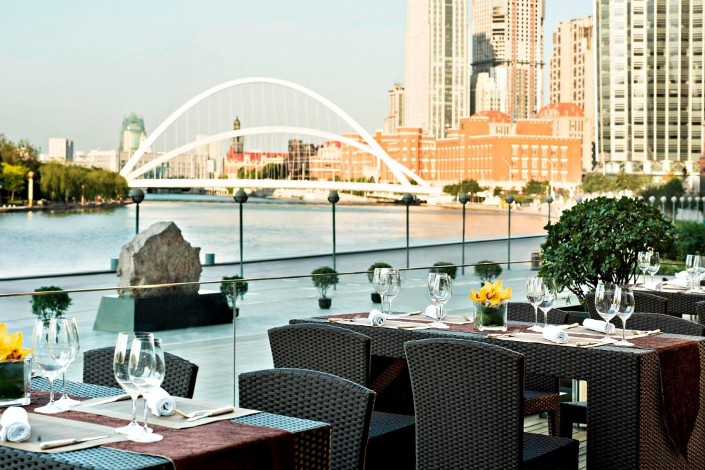 The St. Regis Tianjin Luxury Hotel - Tianjin, China - Restaurant Terrace