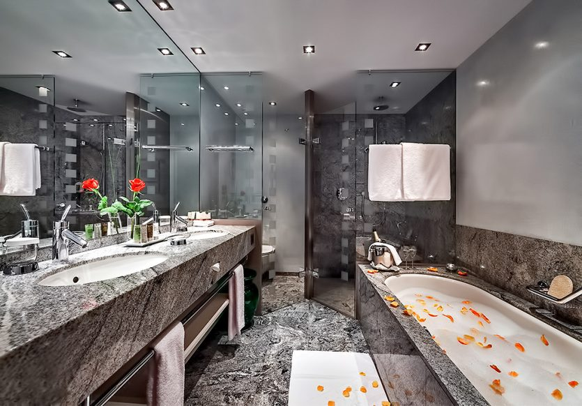 Tschuggen Grand Luxury Hotel - Arosa, Switzerland - Deluxe Bathroom