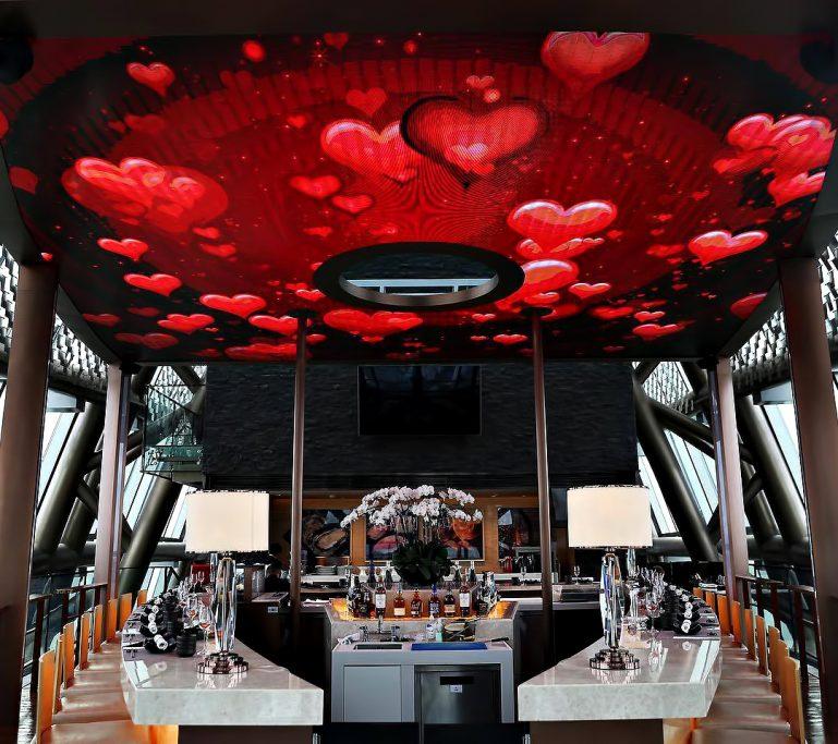 The St. Regis Shenzhen Luxury Hotel - Shenzhen, China - MALT Bar Valentine's Day Red Hearts