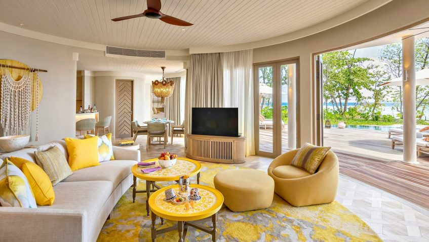 The Nautilus Maldives Luxury Resort - Thiladhoo Island, Maldives - Oceanview Residence Living Room