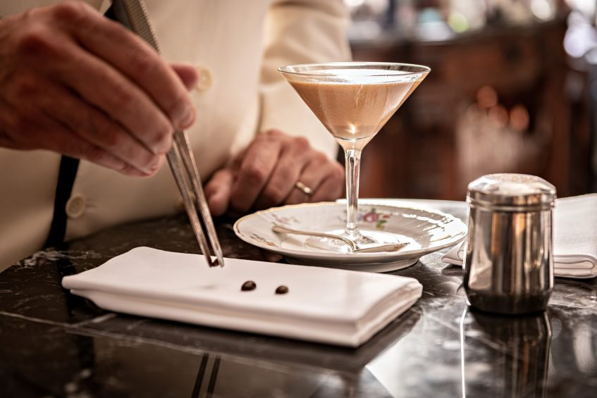 The St. Regis Florence Luxury Hotel - Florence, Italy - Winter Garden Bar Coffee Cream